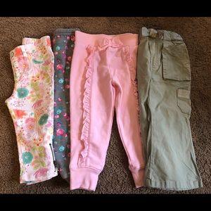 4 pairs of pants size 2T Toddler Girls